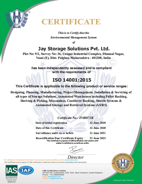 JAY Storage Environmental Management